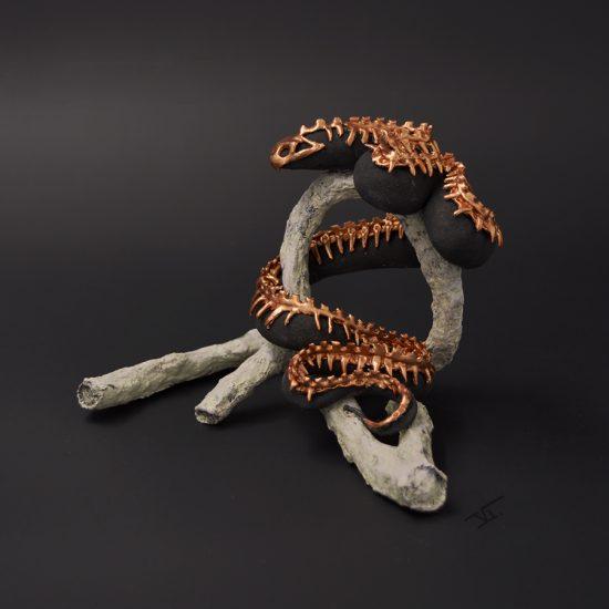 serpent sculpture armure
