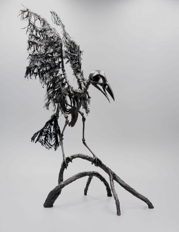 sculpture corbeau virginie gribouilli