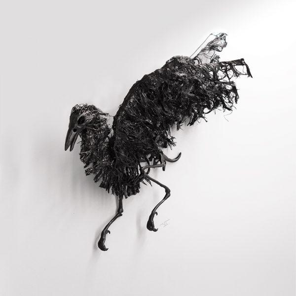 squelette de corbeau mural